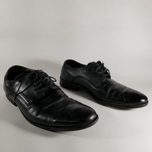 Cole Haan Black Leather Lace Up Oxford Shoes